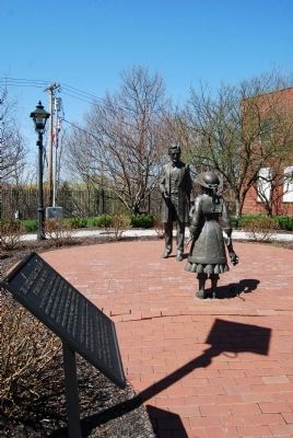 The Lincoln-Bedell Statue Park Marker image. Click for full size.