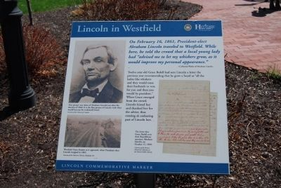 Lincoln in Westfield sign image. Click for full size.