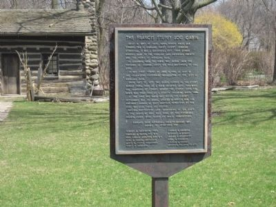The Francis Stupey Log Cabin Marker image. Click for full size.