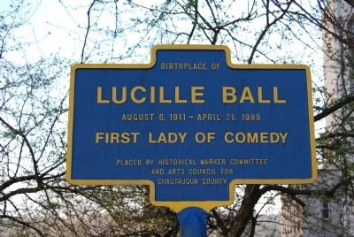 Birthplace of Lucille Ball Marker image. Click for full size.