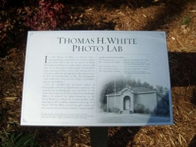 Thomas H. White Photo Lab Marker image. Click for full size.