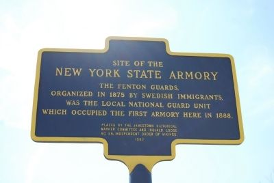 Site of the New York State Armory Marker image. Click for full size.