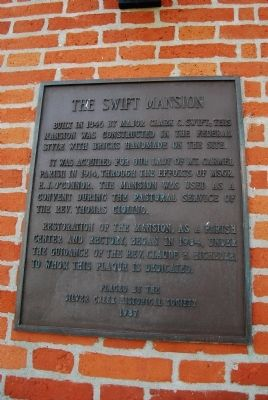 The Swift Mansion Marker image. Click for full size.