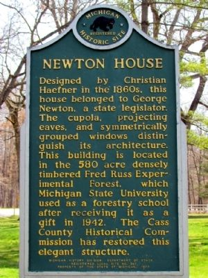 Newton House Marker image. Click for full size.