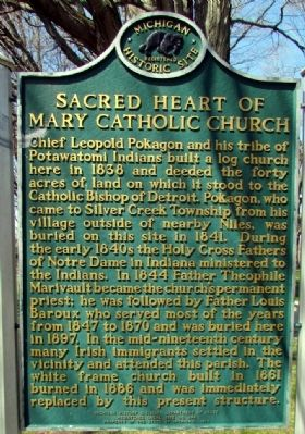 Sacred Heart of Mary Catholic Church Marker image. Click for full size.