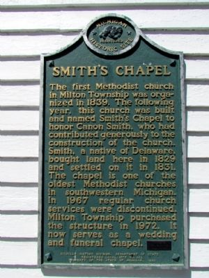 Smith's Chapel Marker image. Click for full size.