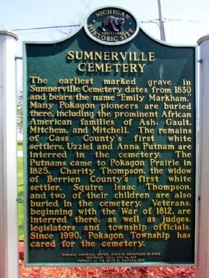 Sumnerville Cemetery Marker image. Click for full size.