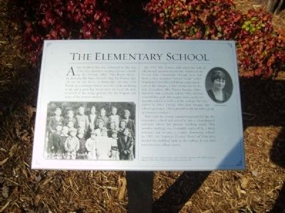 The Elementary School Marker image. Click for full size.