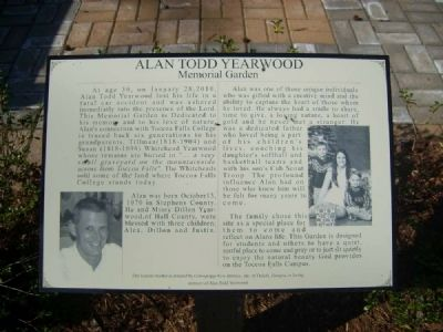 Alan Todd Yearwood Memorial Garden Marker image. Click for full size.