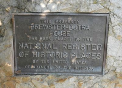 Brewster – Dutra House Marker image. Click for full size.