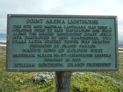 Point Arena Lighthouse Marker image. Click for full size.