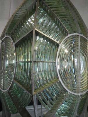 The Point Arena Lighthouse's Fresnel Lens image. Click for full size.