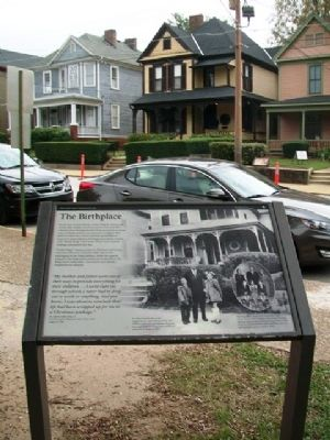 The Birthplace and Marker image. Click for full size.