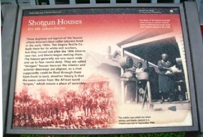 Shotgun Houses Marker image. Click for full size.
