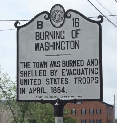 Burning Of Washington Marker image. Click for full size.