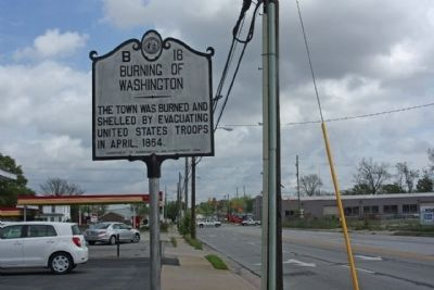 Burning Of Washington Marker looking north on Bridge Street image. Click for full size.