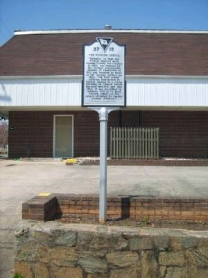 The English School Marker<br>Front image. Click for full size.