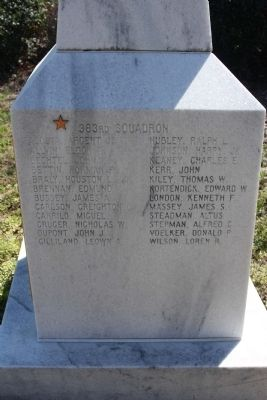 364th FG Marker, west face image. Click for full size.