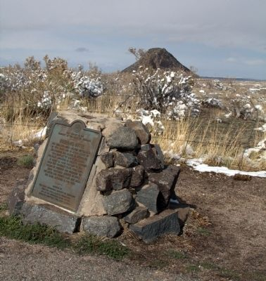The Marker with Huerfano Butte In the Distance image. Click for full size.