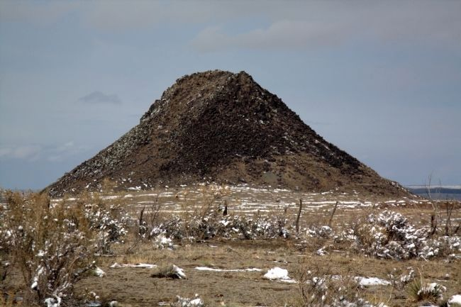 Telephoto Shot of Huerfano Butte from I-25 image. Click for full size.