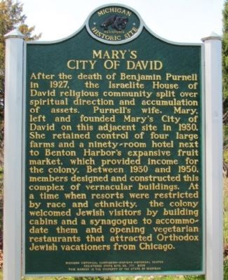 Mary's City of David Marker image. Click for full size.