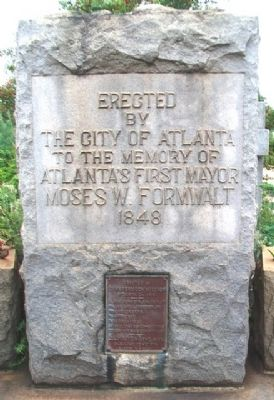 Moses W. Formwalt Monument image. Click for full size.