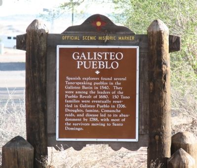 Galisteo Pueblo Marker image. Click for full size.