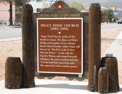 Peggy Pond Church Marker image. Click for full size.