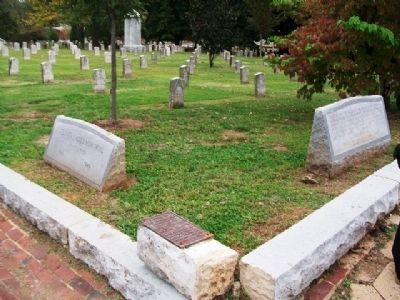 Confederate Soldiers Plot and Markers image. Click for full size.