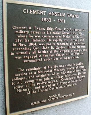 Clement Anselm Evans Marker image. Click for full size.