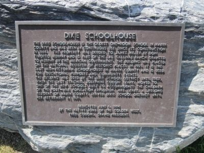 Dixie Schoolhouse Marker image. Click for full size.