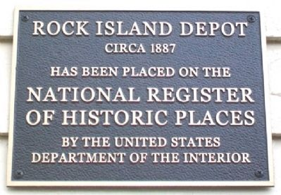 Rock Island Depot NRHP Marker image. Click for full size.