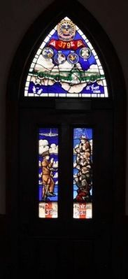 379th Bombardment Group Stained Glass (Door) at the nearby Chapel of the Fallen Eagles image. Click for full size.