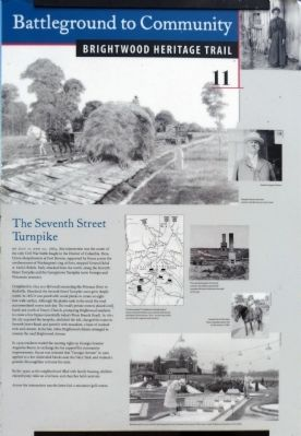 The Seventh Street Turnpike Marker image. Click for full size.