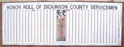 Honor Roll of Dickinson County Servicemen image. Click for full size.