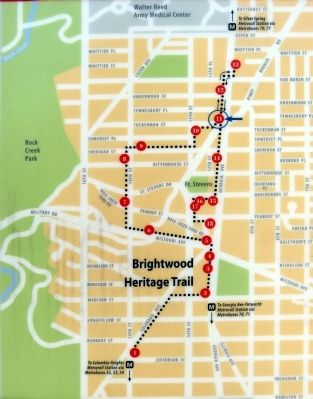 Map of the Brightwood Heritage Trail image. Click for full size.