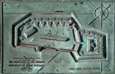 Scale Model of Fort Stevens image. Click for full size.