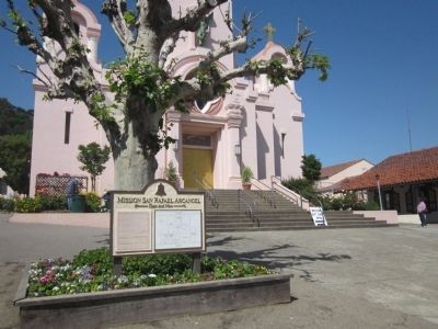 Mission San Rafael Arcangel Marker and the Church of Saint Rafael image. Click for full size.