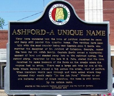 Ashford - a Unique Name Marker image. Click for full size.