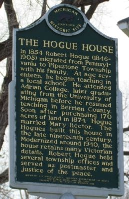 The Hogue House Marker image. Click for full size.