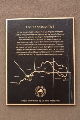 The Old Spanish Trail Marker image. Click for full size.