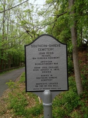 Marker on bike trail image. Click for full size.
