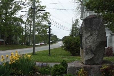 Colonial Bath Marker, looking west along Carteret Street (County Road 99 , 92 ) image. Click for full size.