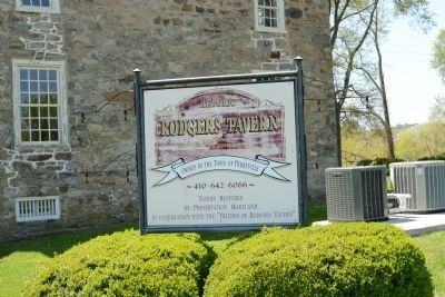 Historic Rogers Tavern Sign image. Click for full size.