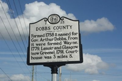 Dobbs County Marker image. Click for full size.