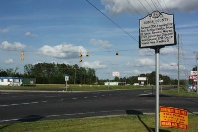 Dobbs County Marker at the intersection of U.S. 70 and South Beston Road (State Road 1719) image. Click for full size.