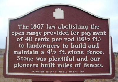 Stone Fences Marker image. Click for full size.