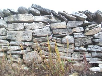 Restored Stone Fence Near Marker image. Click for full size.