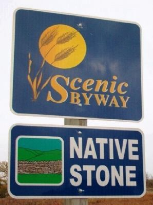 Native Stone Scenic Byway Sign image. Click for full size.
