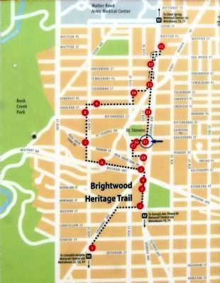 Map - Brightwood Heritage Trail image. Click for full size.